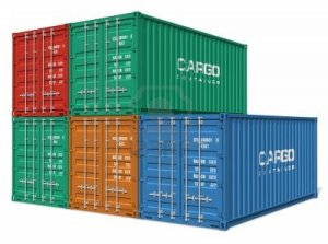 7946934-set-of-cargo-containers